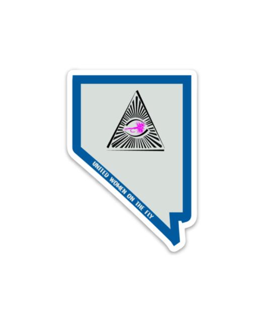Nevada Pyramid Lake United Women on the Fly Sticker