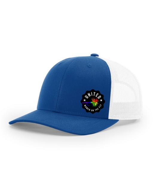 Royal Blue with Rainbow Logo - UWOTF Structured Trucker Hat